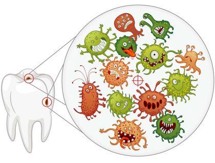 Даже малейшее повреждение зубным кариесом становится очагом бесконечного числа микробов, которые разрушают зубную эмаль
